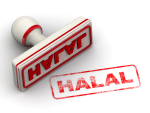 Picture showing a Halal stamp
