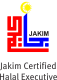 Logo showing Halal Balancing™ is a Jakim Halal Professional Board certified Halal Professional, Halal Executive level